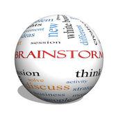 Brainstorm 3D sphere Word Cloud Concept — Foto Stock
