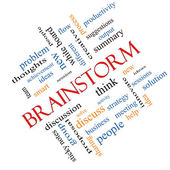 Brainstorm Word Cloud Concept Angled — Stockfoto