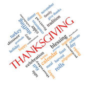 Thanksgiving Word Cloud Concept Angled — Stock Photo