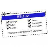 EBITDA Blue Coupon Concept — Stock Photo