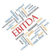 EBITDA Word Cloud Angled Concept — Stock Photo