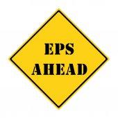 EPS Ahead Sign — Zdjęcie stockowe