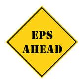 EPS Ahead Sign — ストック写真