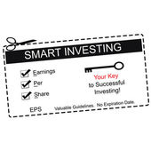 EPS Smart Investing Black Coupon — Stock Photo