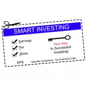 EPS Smart Investing Blue Coupon — Stock Photo