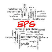 EPS Word Cloud Concept in red caps — Stock Photo