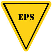 EPS Triangle Sign — Stock Photo