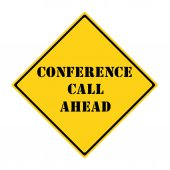 Conference Call Ahead Sign — Stock Photo