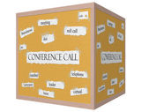 Conference Call 3D Corkboard Word Concept — Stock Photo