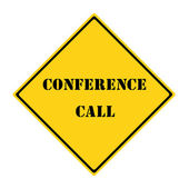Conference Call Sign — Stock Photo
