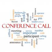 Conference Call Word Cloud Concept — Stock Photo
