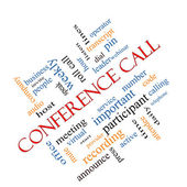 Conference Call Word Cloud Concept Angled — Stock Photo