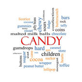 Candy Word Cloud Concept  — Stock Photo