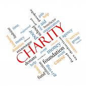 Charity Word Cloud Concept Angled — Stock Photo
