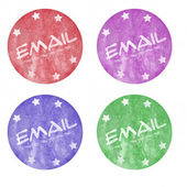 Four Email with Cirlcle Buttons — Stock Photo