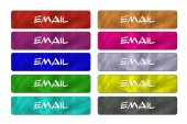 Ten Email Buttons — Stockfoto