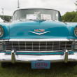 1956 Chevy Bel Air Blue and White Car Close up — Stock Photo #70901745