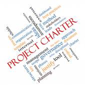 Project Charter Word Cloud Concept Angled — Stock Photo