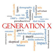 Generation X Word Cloud Concept — Stock Photo