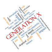 Generation X Word Cloud Concept angled — Stock Photo