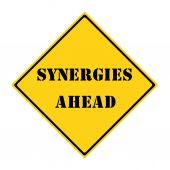 Synergy Ahead Sign — Stock Photo