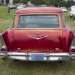 1957 Chevy Bel Air Wagon Car Rear view — Stock Photo #77987496
