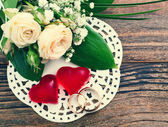 Wedding bouquet, background. — Stock Photo