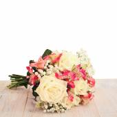 Bridal bouquet of flowers isolated. — Stock Photo