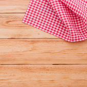Wooden texture background and tablecloth — Stock Photo