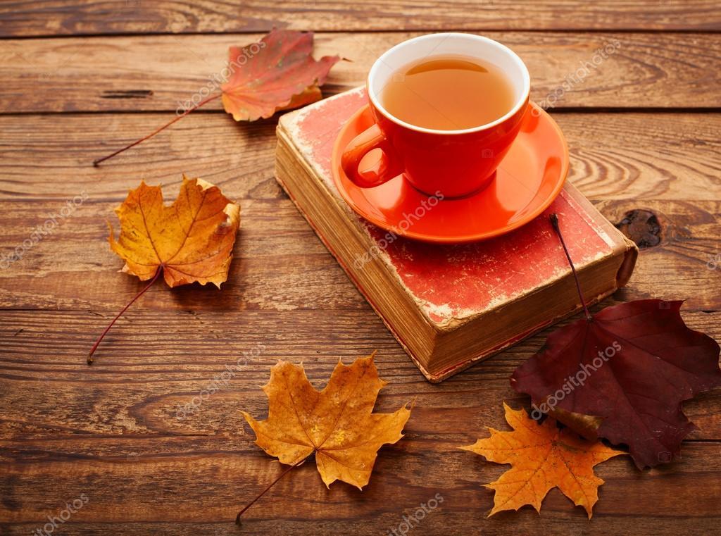 Картинки кружка чая осень