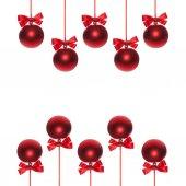 Shiny ribbon and bow close up isolated. Christmas bauble — Stock Photo