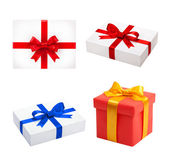 Set Holiday presents. Beautiful gifts box isolated. — ストック写真