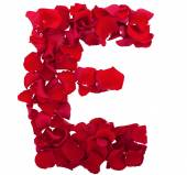 Letter rose petals of flowers. — Stock Photo
