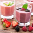 Summer berries smoothie with mint — Stock Photo #64977045