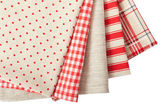 Stack of colorful dish towels — Stock Photo