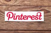 Pinterest logotype printed on paper — Stock Photo