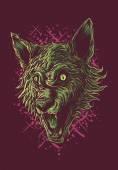 Werewolf Head — Stock Vector