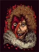 Zombie Portrait — Stock Vector