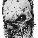 Постер, плакат: Skull Sketch