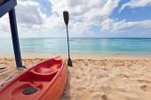 Rent Kayak in the beach — Stock Photo