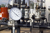 Instrument equipment at petrochemical plant — Stock Photo