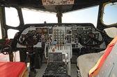 古い飛行機のコックピット インテリア — ストック写真