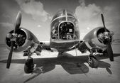 Old bomber front view — Stock Photo