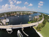 Coastal aerial view of Florida — Stok fotoğraf