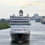 Modern ocean liner front view — Stock Photo #61258435