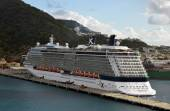 Celebrity Reflection arrived in St Maarten — Stock Photo