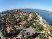 Suburban homes in Florid aerial view — Stock Photo