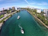 Volný čas lodičky v Boca Raton na Floridě — Stock fotografie