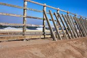 Fence building — Foto Stock