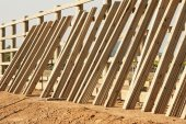 Fence construction 1695 — Foto Stock